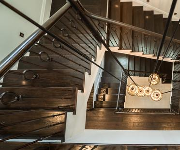 Custom Staircase by Luxury Home Builders in South Florida