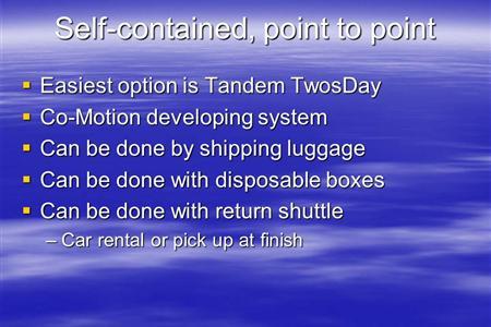 Tandem Travel PPT