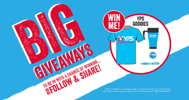 YPS branded goodies to win