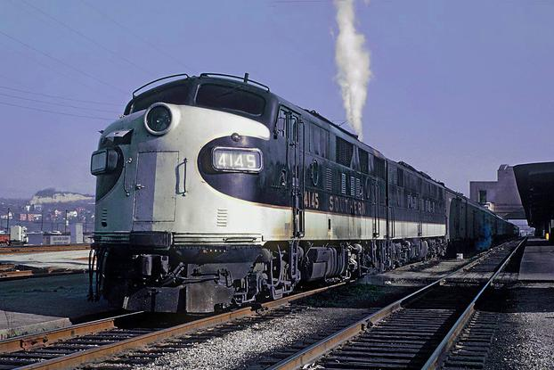 The Royal Palm, waiting to depart from Cincinnati Union Terminal on April 11, 1963. Photo by Roger Puta.