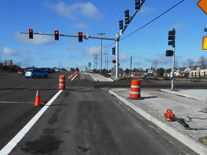 Expanded roadway on 128th Street