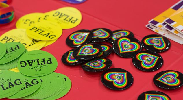 Image of PFLAG buttons and flyers