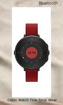 Pebble Time Round 14mm Smartwatch for Apple/Android Devices - Black/Red 601-00045,bluetooth watches
