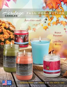Heritage Candles Fall Collection Fundraising Brochure