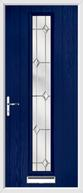 1 strip composite front door regal opal glass
