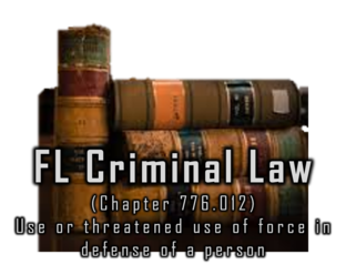 776.012 Use or threatened use of force in defense of person.— (1) A person is justified in using or threatening to use force, except deadly force, against another when and to the extent that the person reasonably believes that such conduct is necessary to defend himself or herself or another against the other's imminent use of unlawful force. A person who uses or threatens to use force in accordance with this subsection does not have a duty to retreat before using or threatening to use such force.