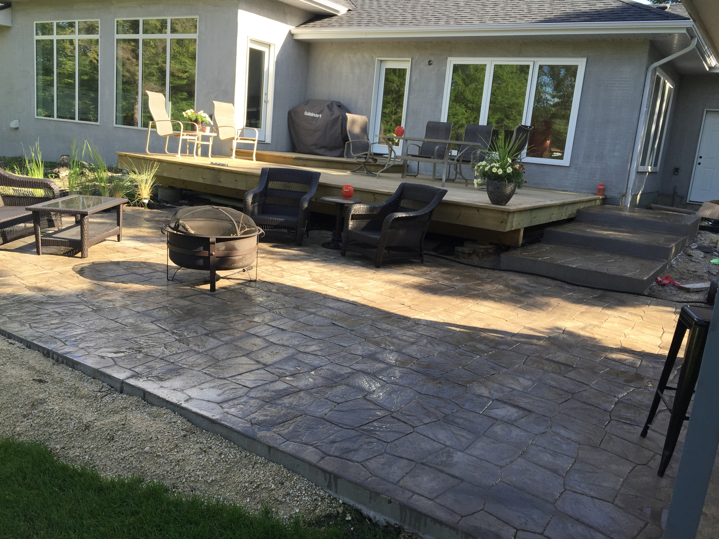 of concrete patio artistry wash stained floors to houston elegant stamped acid tx clean how