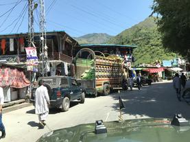 Village in Azad Kashmir on the way to Chakothi border crossing point