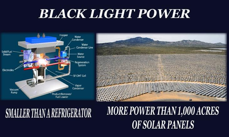 Black Light Power: the alternative to wind and solar power, if it works.