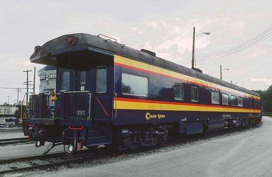 "Chessie Car No. 10 the ""West Virginia"" at Jaxonville, Florida, November 18, 1986. Photo by Roger Puta."