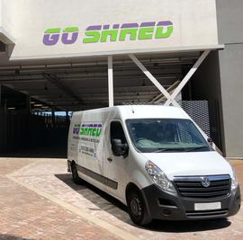 Go Shred Vehicle at Shredding Site in Huddersfield