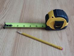 PIcture of tape measure and pencil