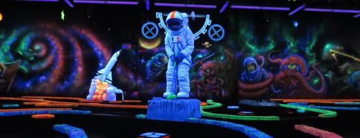 Cosmic Mayhem Blacklight Mini Golf And Bar