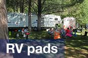 RV pads at Harriman Spring's Resort and Marina
