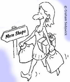 more shops shopping cartoon