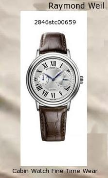 Product Specifications Watch Information Brand, Seller, or Collection Name Raymond Weil Model number 2846-STC-00659 Part Number RW-2846-STC-00659 Item Shape Round Dial window material type Anti reflective sapphire Clasp Buckle Case material Stainless steel Case diameter 41.5 millimeters Case Thickness 10.35 millimeters Band Material Leather Band length 7.5 inches Band width 21 millimeters Band Color Brown Dial color Silver Bezel material Stainless steel Item weight 15.84 Ounces Movement Swiss automatic Water resistant depth 50 Meters