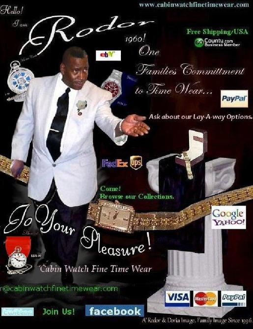 The creator of: Cabin Watch Fine Time Wear; Family Timepiece Jewelers'. The Robert Dorsey Story, Blogg