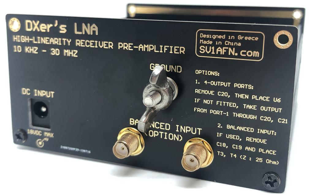 High Linearity Preamplifier (LNA) for HF