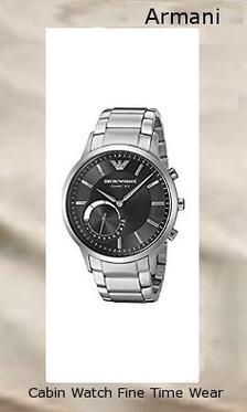 Emporio Armani Men's ART3000 Silver Connected,armani