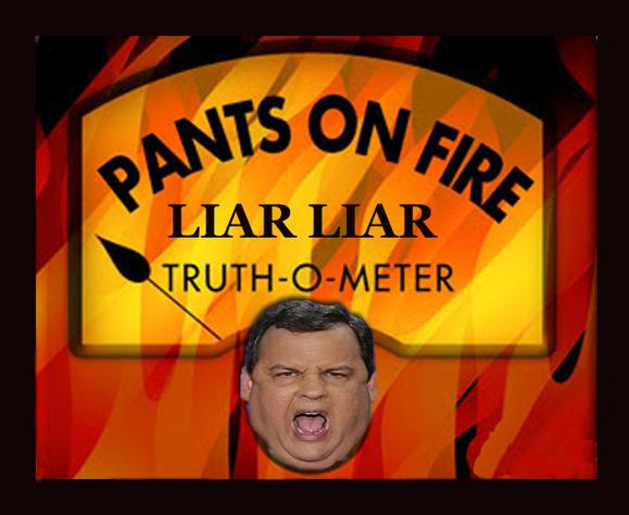 Chris Christie and his lies