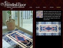 Hand painted floor cloths