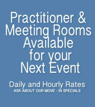 Practitioner and Meeting Rooms Available for your Next Event