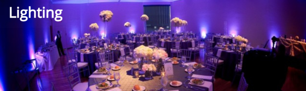 Uplighting, Monograms and gobos