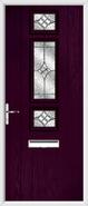 3 Square Strip Door karri glass