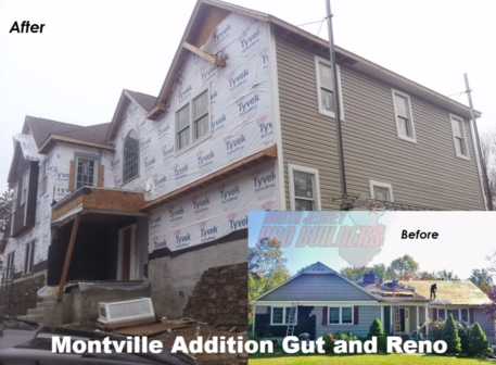 Montville, home additon, house before and after, add-a-level, morris county contractor