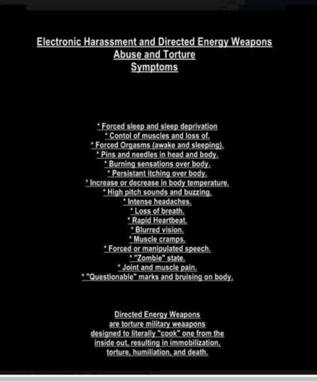 Electronic Harassment Symptoms