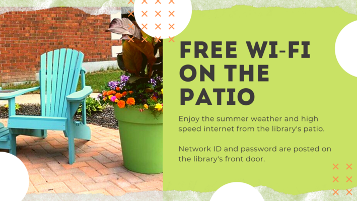 Free Wi-Fi on the Patio