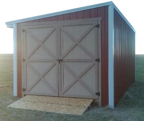 Storage Shed with double Dutch doors