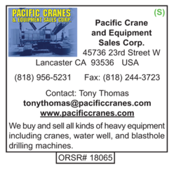 Drilling Supplier, Pacific Crane