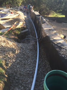 Image of water line installation at residential home in Bee Cave, Texas