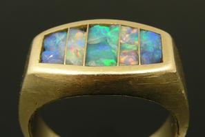 Opal inlay jewelry repair by The Hileman Collection
