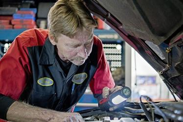 Fast Oil Change with multi-point inspections, including fluid top-off, and tire air pressure set.