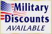 Military discount on gutter installation.