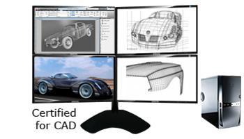 CAD Workstation Computers with Multiple Displays