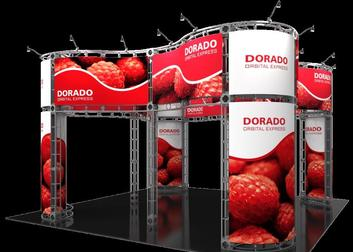 Dorado 20 x 20 Island exhibit trade show booth.