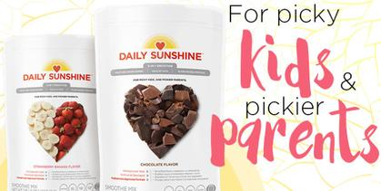 Daily sunshine smoothie for kids,non-gmo,soy-free,dairy-free,gluten-free,certified organic,nutrition shake for kids