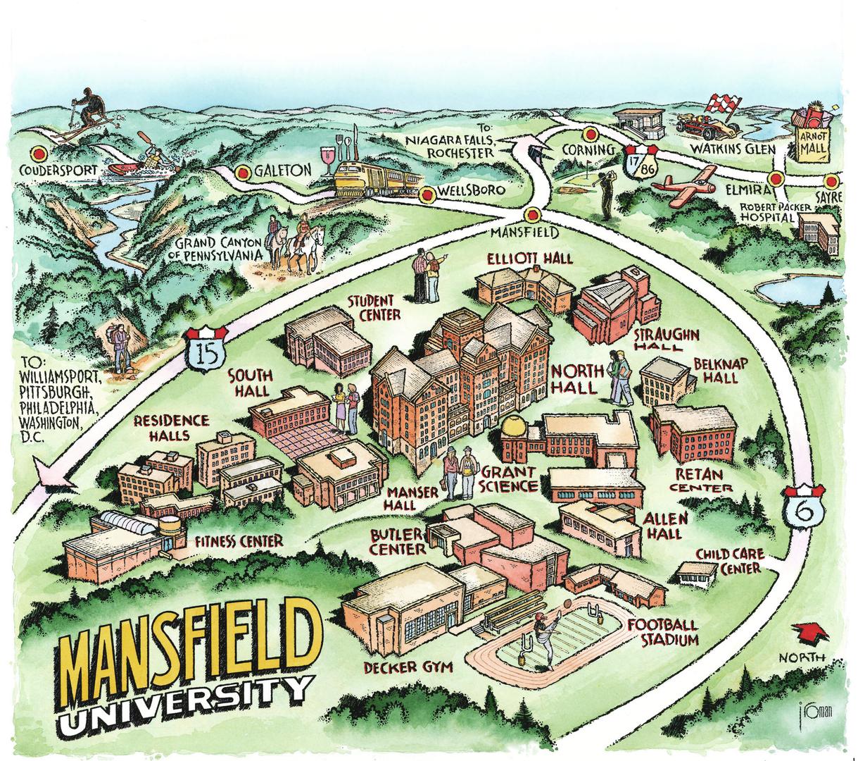 Oc Campus Map.Campus Maps