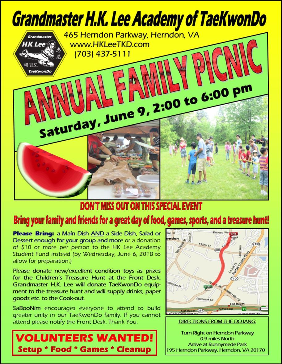 Flyer - Annual Family Picnic