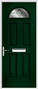 4 Panel 1 Arch Composite Door fusion glass