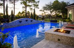 pool designed by custom pool builder, Paragon Pools, in Houston, TX