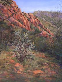 A Place of Eagles, Davis Mts pastel by Lindy C Severns, Fort Davis TX