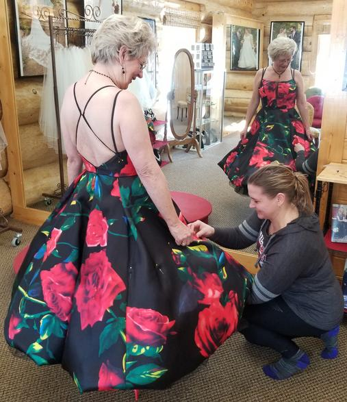 The Wedding Parlour does alterations on gowns we sell.