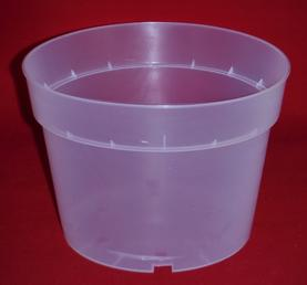clear plastic orchid pot 7.5 inch round holes UV McConkey