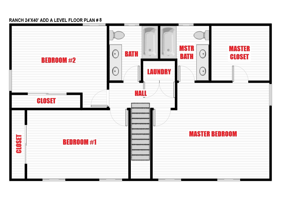 Ranch Add-a-Level packages and pricing | North Jersey Pro ... on bedroom with two master suites house plans, for a ranch style home addition floor plans, basement ranch house floor plans, atrium ranch house floor plans,