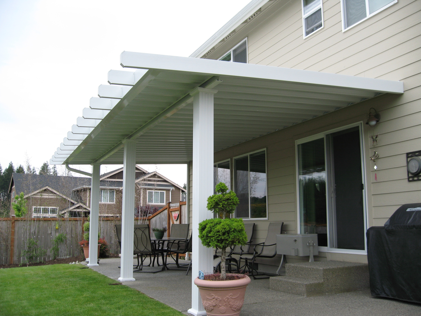 aa patio covers aluminum patio covers awnings metal patio cover