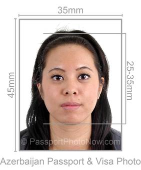 Azerbaijan Passport and Visa Photo